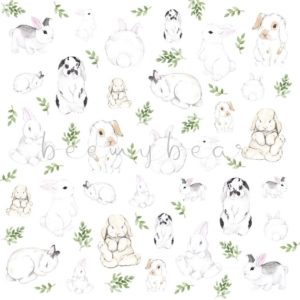 Designpapier Bunnies